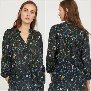 ANNA GLOVER x H&M Patterned Jersey Top